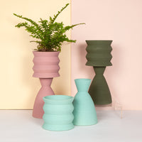 Two-Part Plant Pot - Olive