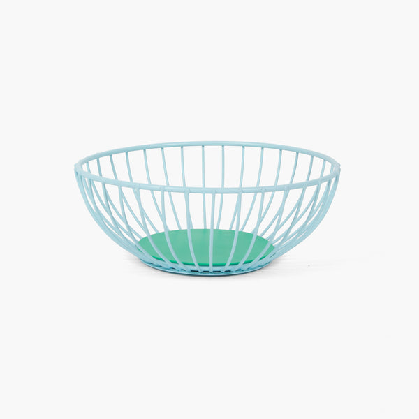 Small Iris Wire Basket - Light Blue/Green