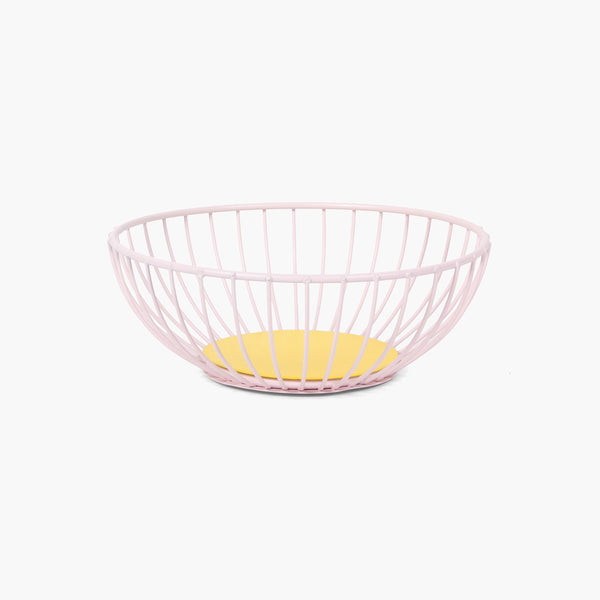 Small Iris Wire Basket - Pink/Yellow