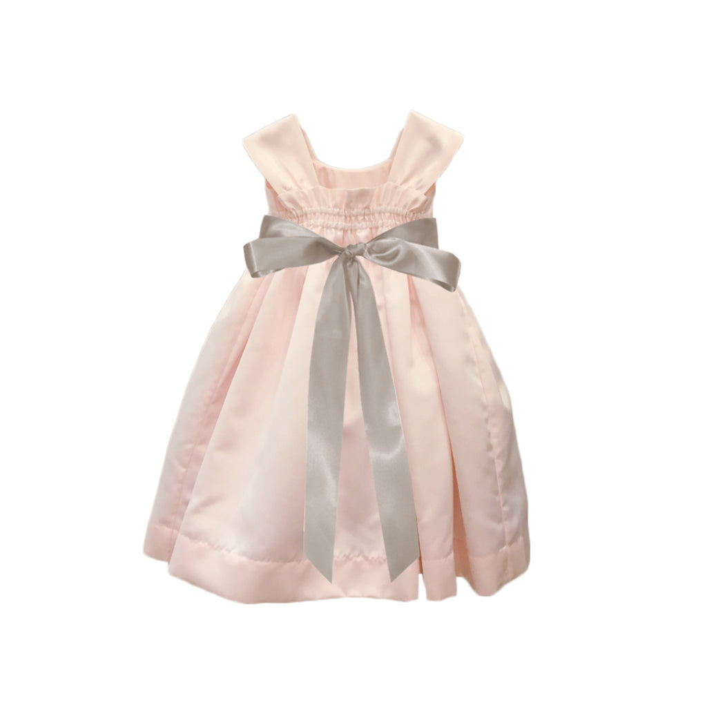 Soufflé Satin Dress | Blush Pink