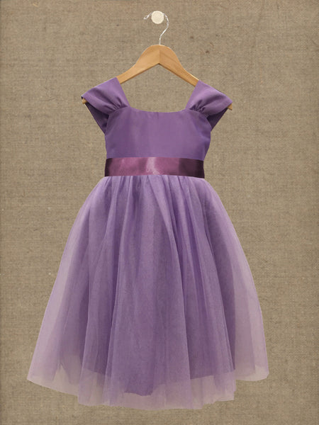 Princess Tulle in Lilac Mousse | Sash in Amethyst