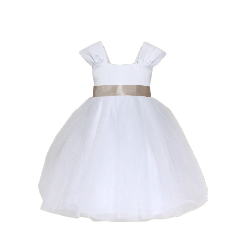 Soufflé Tulle Dress|White