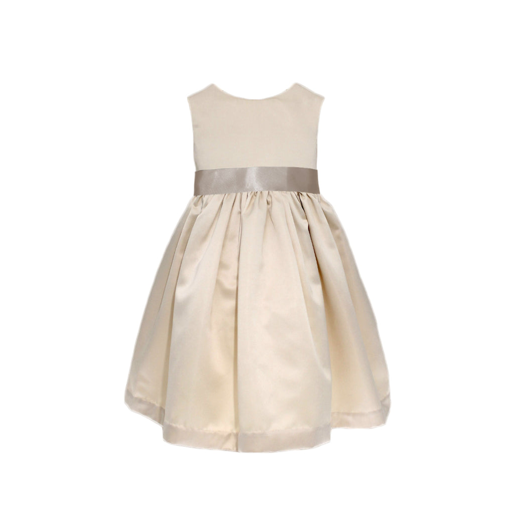 Meringue Satin Dress | Champagne