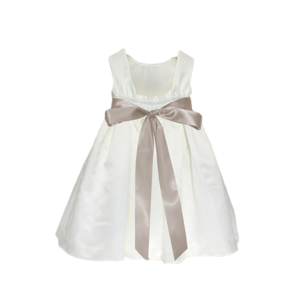 Meringue Satin Dress | Ivory