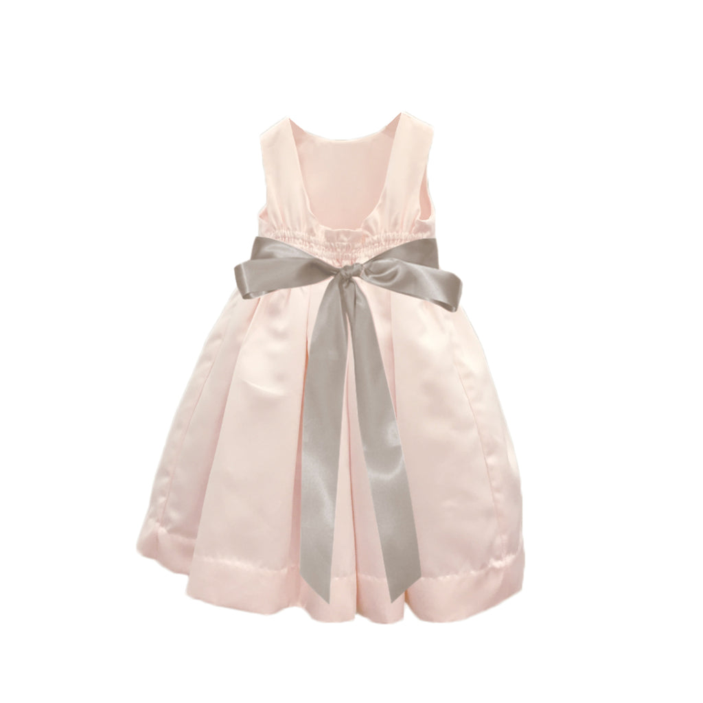 Meringue Satin Dress | Blush Pink