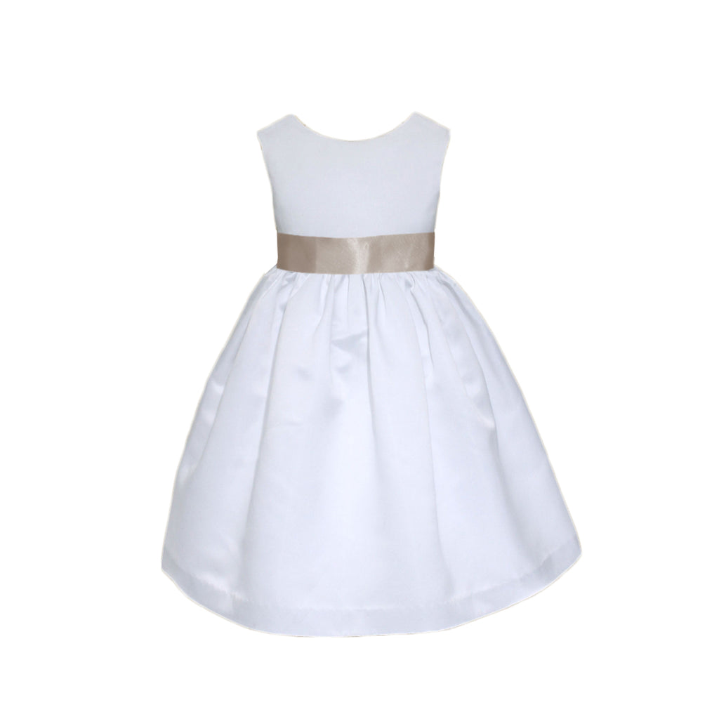 Meringue Satin Dress | White