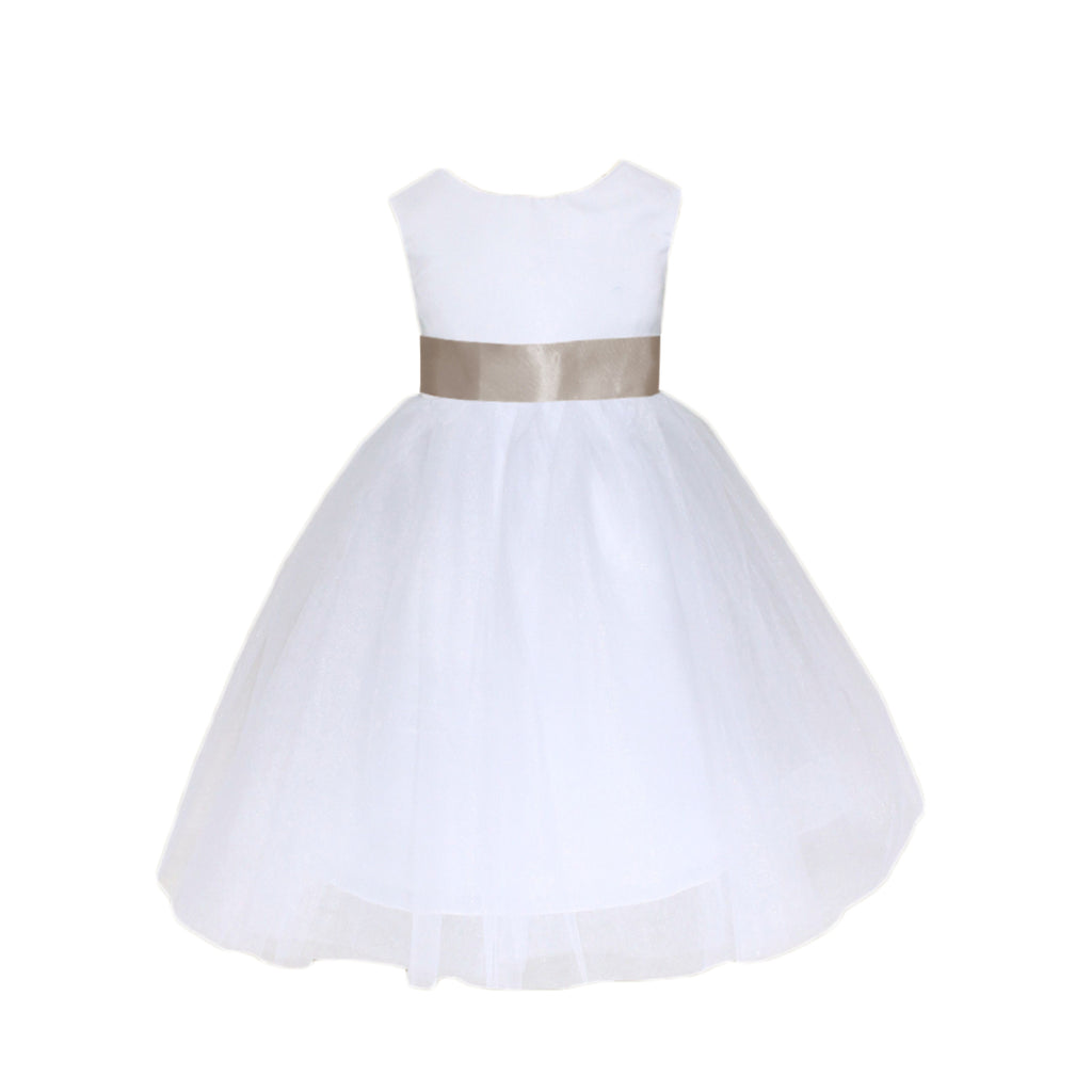 Meringue Tulle Dress|White