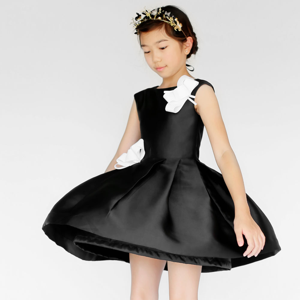 Girl Canele Dress Black