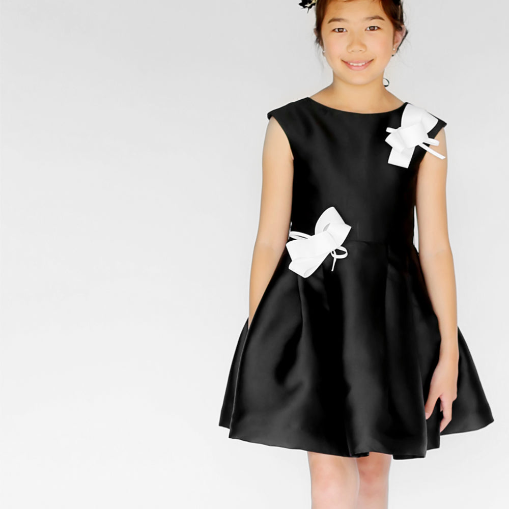 Girl Canele Dress Black 2