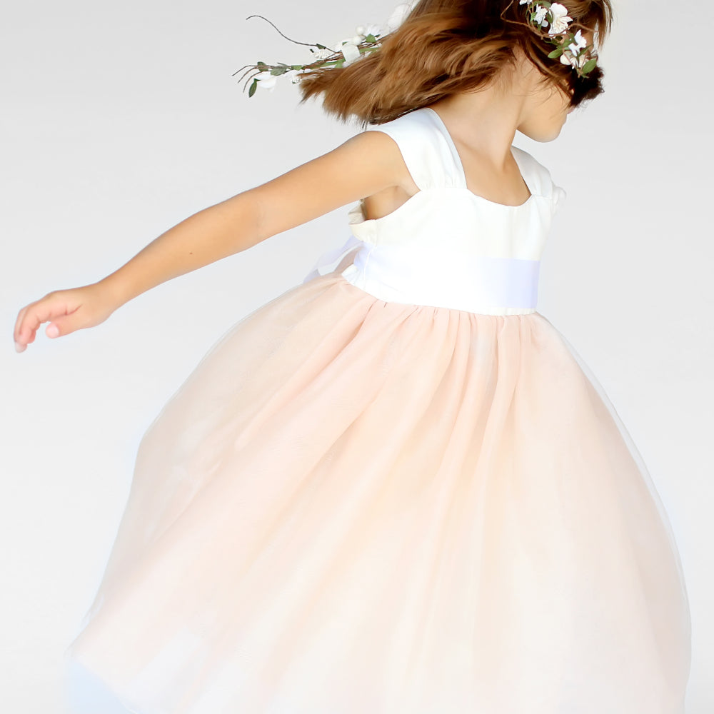 Girls Cotton Candy Dress Light Orange