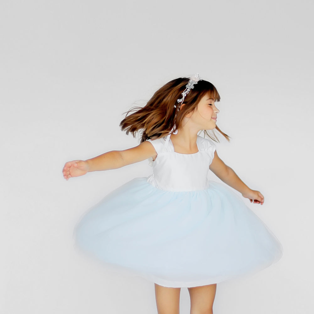 Girls Cotton Candy Dress Blue