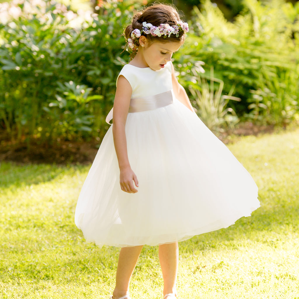 Meringue Tulle Dress|Ivory