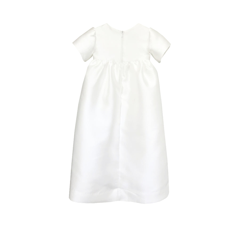 Baby Fondant Christening Gown Ivory Back