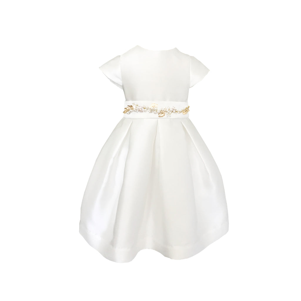 Fondant Dress Gold Floral Belt