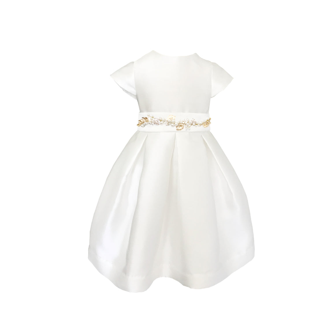 Fondant Dress | Gold Floral Belt