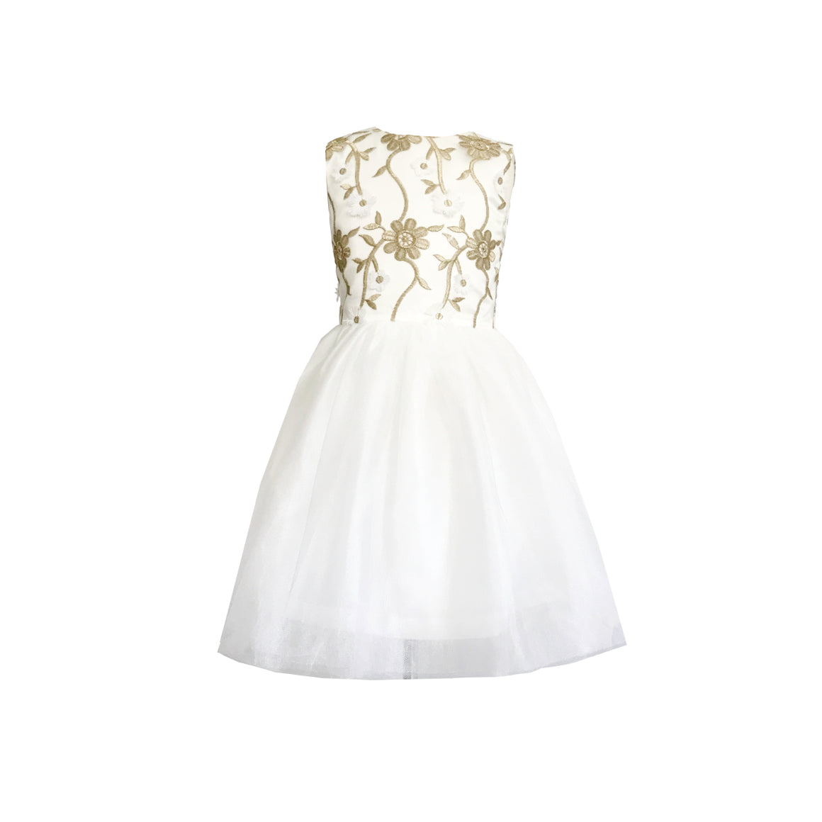 Gilded Chantilly Dress | Ivory