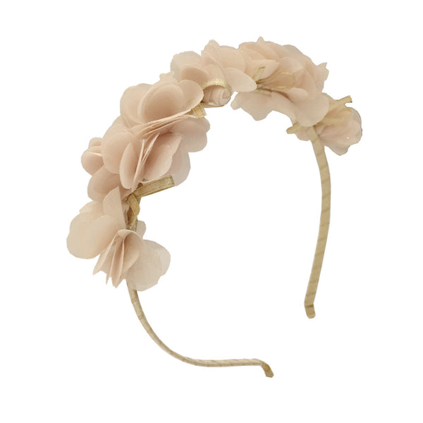 Girls Chiffon Flower Hairband Champagne