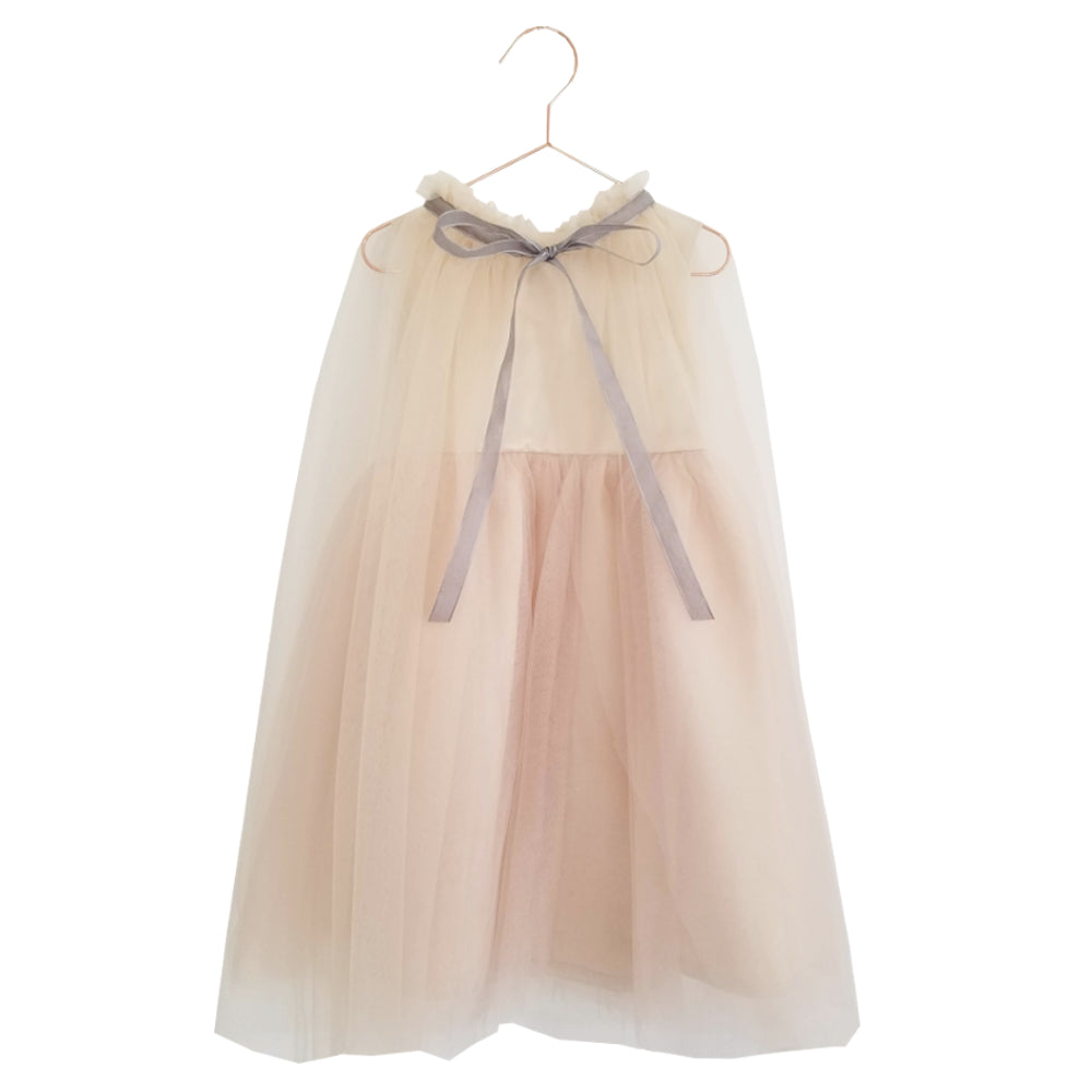 Meringue Tulle Dress with Cape Set