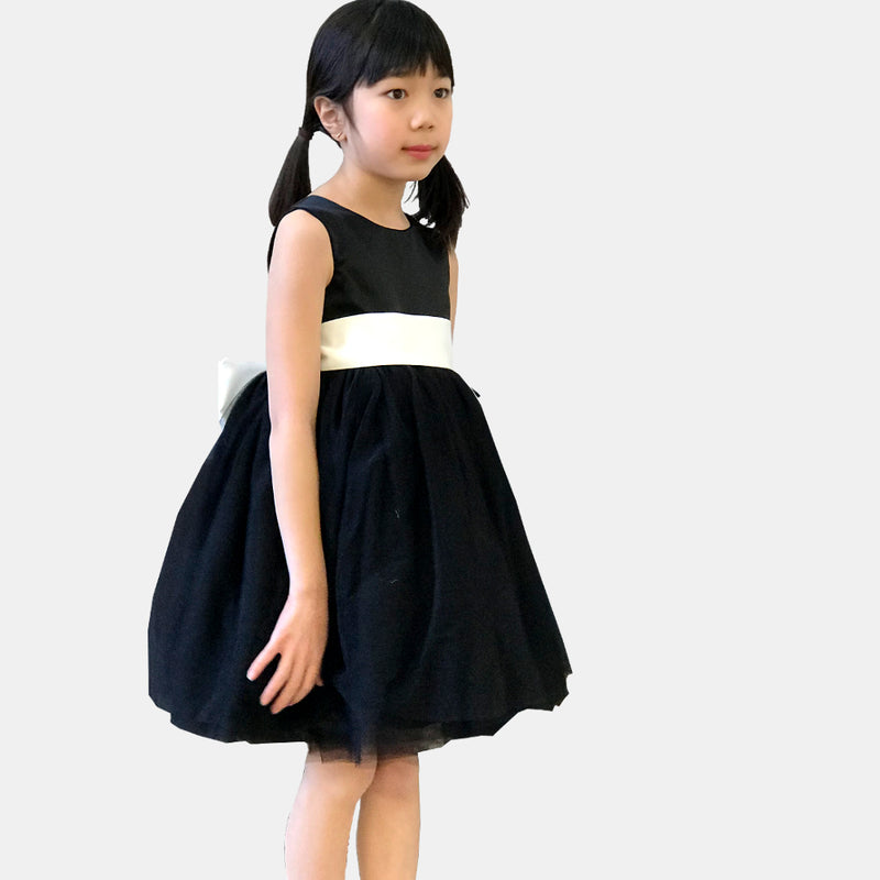 Girls Meringue Tulle Dress Black