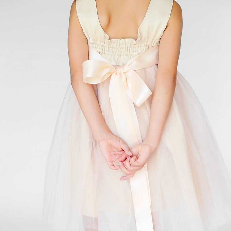 Meringue Tulle Dress with Cape Set Back