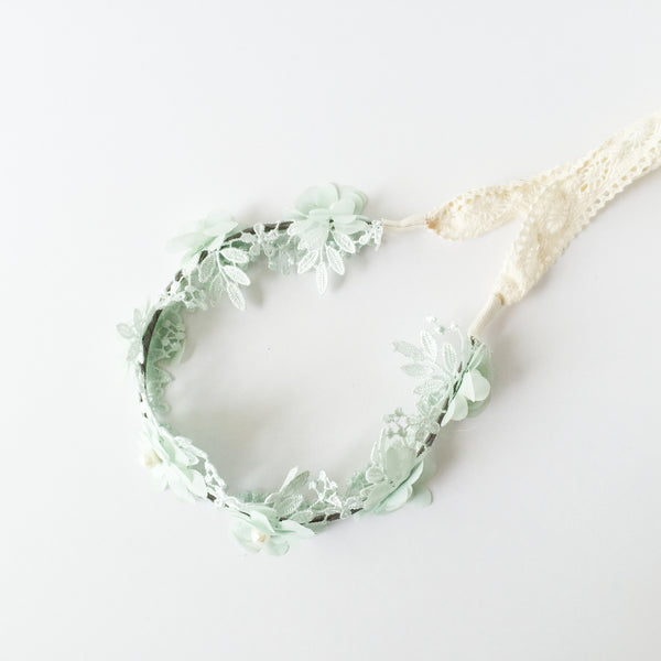 Halo Lace & Tulle Flowers | Mint