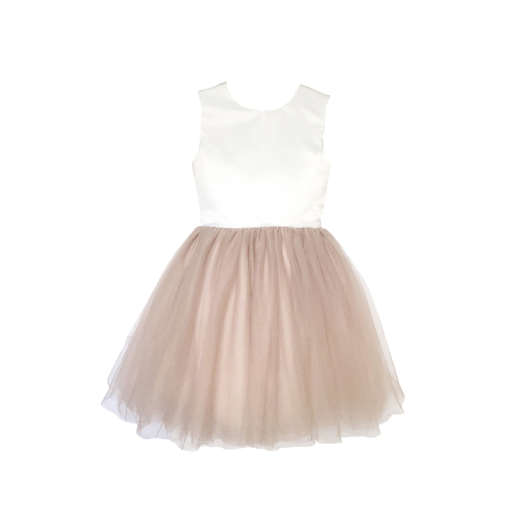 Girls Pavlova Tulle Dress Tan