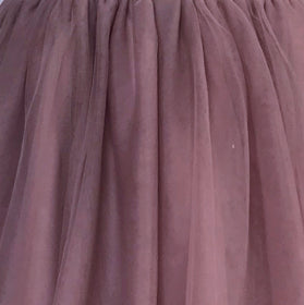 Girls Dress Soft Tulle Swatch Mauve