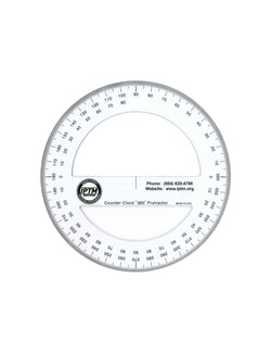 360 Degree Counter Clockwise Protractor