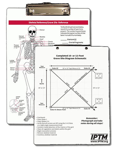 Skeletal and Grave Site Reference Clipboard
