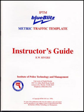 Instructor's Guide for the blueBlitz Traffic Template - METRIC Scale