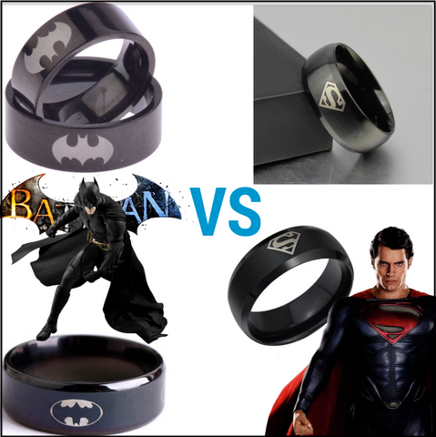Batman Vs Superman Fan Rings (Choose Your Side)
