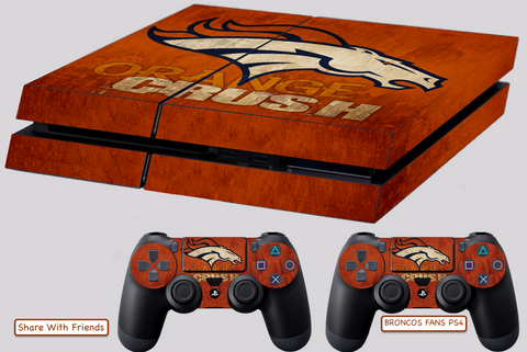 BRONCOS SKIN FOR PS4, STICKERS 4 DUALSHOCK CONTROLLER
