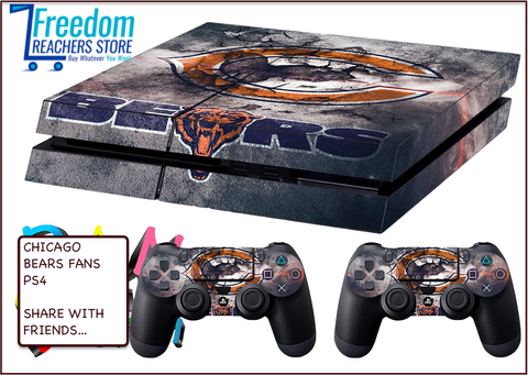 CHICAGO BEARS SKIN FOR PS4, STICKERS 4 DUALSHOCK CONTROLLER