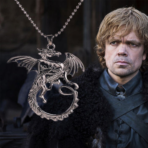 Hot Game Of Thrones Retro Black Targaryen Dragon Chain Pendant Necklace Jewelry Popular