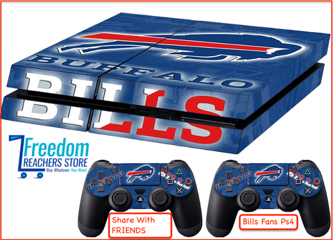 BUFFALO BILLS SKIN FOR PS4, STICKERS 4 DUALSHOCK CONTROLLER