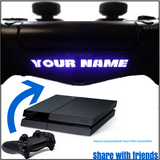 2x CUSTOM TEXT GAMER TAG PS4 PlayStation Controller LED Light Bar Decal Sticker
