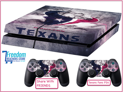 Houston Texans skin for PS4, Stickers 4 dualshock controller