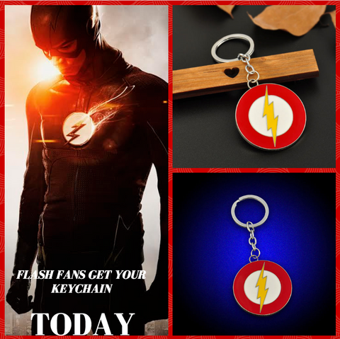 The Flash Lightning Metal Keychain