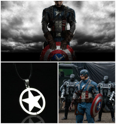 Captain America Fashion Super Hero Necklace