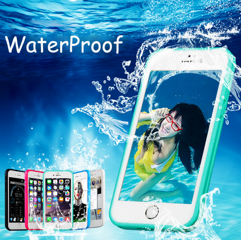 iPhone 5,5s,6, 7 Waterproof Soft Silicone Cover Cases