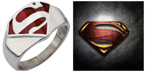 Stainless Steel Superman Ring