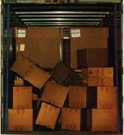 Image of unsecured freight disaster