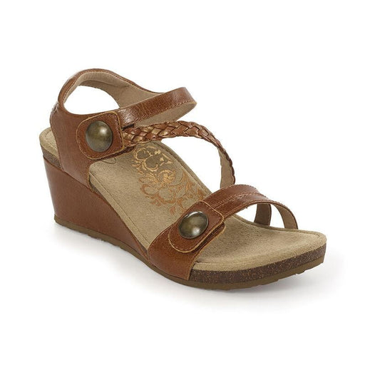 Naya Braided Quarter Strap Wedge Sandal Brown - Birkenstock Plus