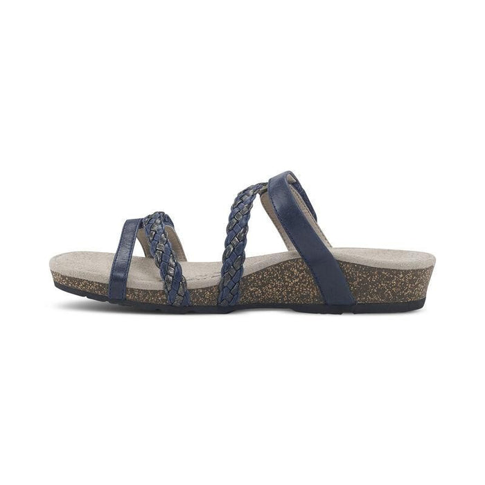 Janey Braided Slide Navy - Birkenstock Plus