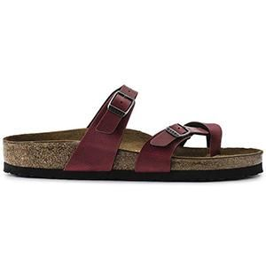 Mayari Vegan Birko-Flor Pull Up Bordeaux - Birkenstock Plus