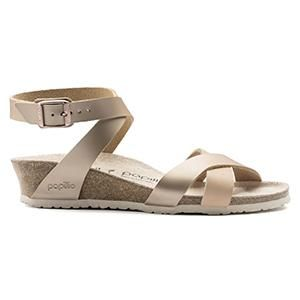 Lola Leather Frosted Metallic Rose - Birkenstock Plus