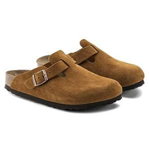 Boston Soft Footbed Suede Leather Mink - Birkenstock Plus