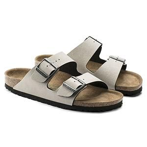 Arizona Vegan Birko-Flor Pull Up Stone - Birkenstock Plus