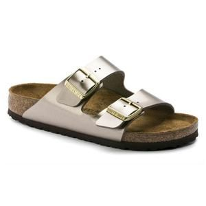 Arizona Birko-Flor Electric Metallic Taupe - Birkenstock Plus