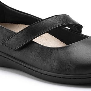Lora Leather Black - Birkenstock Plus